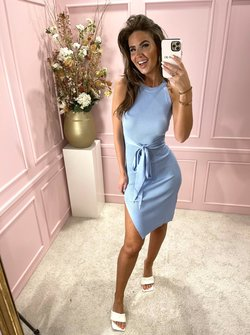 Belted Bodycon blue
