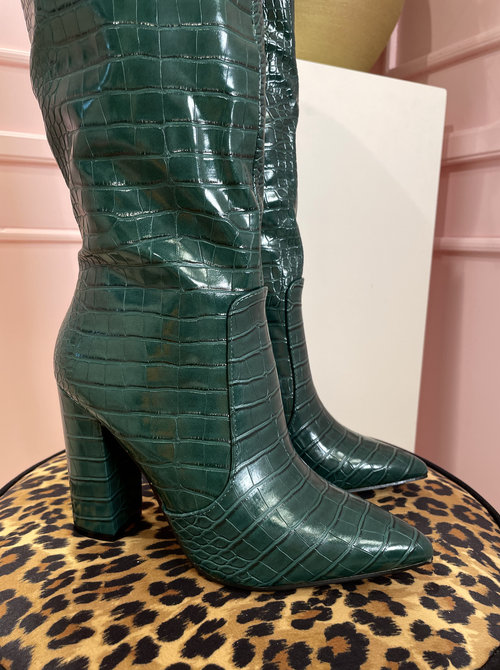 Snakey boots green