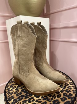 Cowboy boots taupe