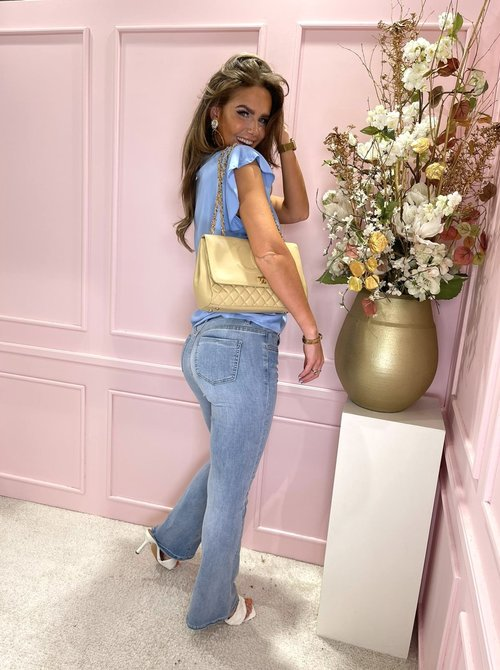 90's flare jeans blue