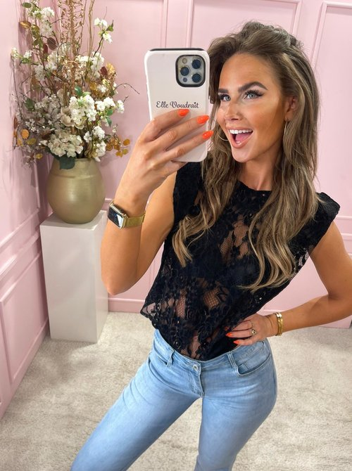 Lacey top black