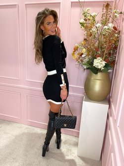 Chanel inspired twin set black
