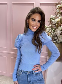 Puffy col top blue