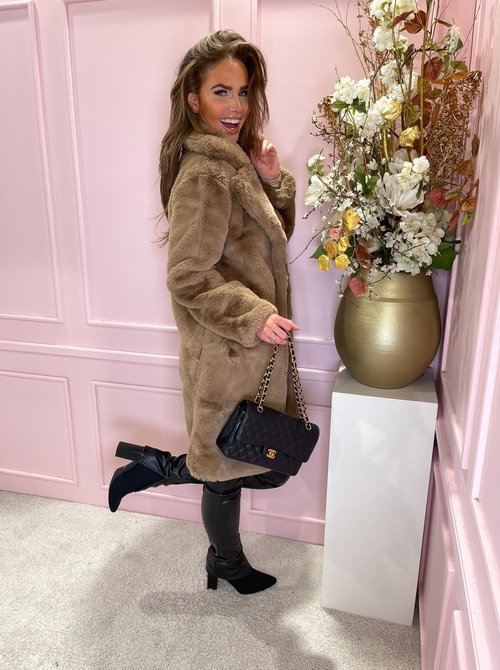 Dolly coat taupe
