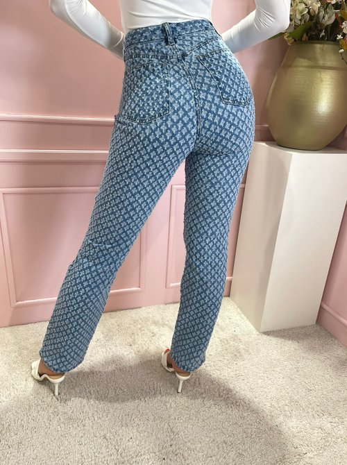 Love blue straight jeans