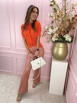 Dayenne travel printed pants orange