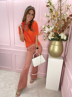 Dayenne travel blouse orange
