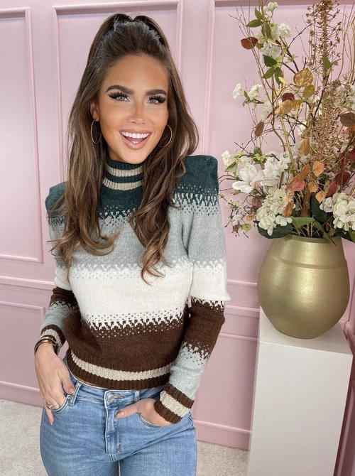 Valery Brown & Green sweater
