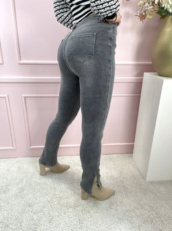 Jeans grey split