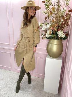 Knit dress Cilia camel
