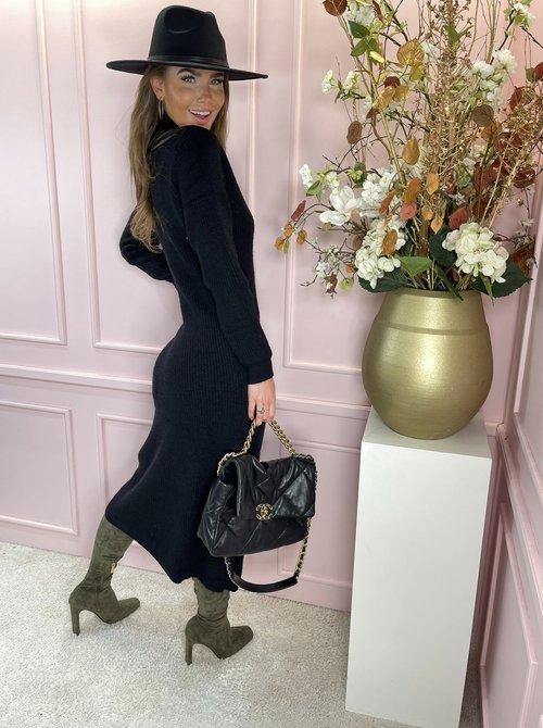 Sweater dress long black