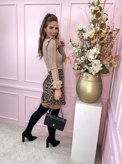 dark leopard skirt