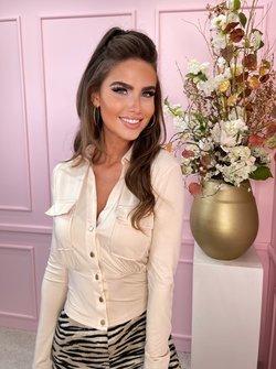 beige blouse top