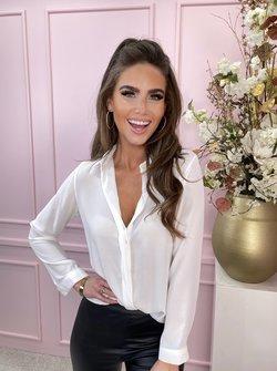 classy blouse white
