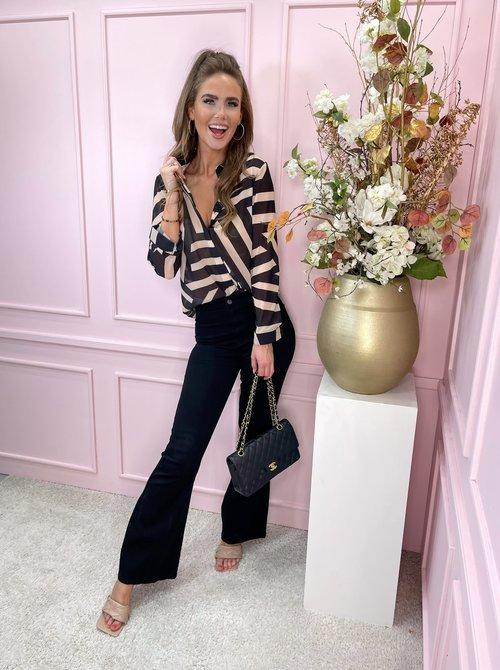 Classy blouse zebra