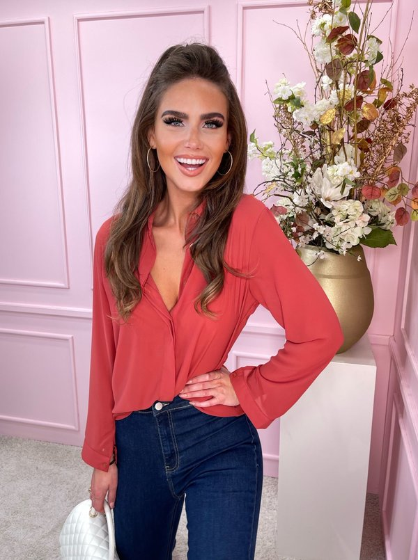 classy blouse dusty pink