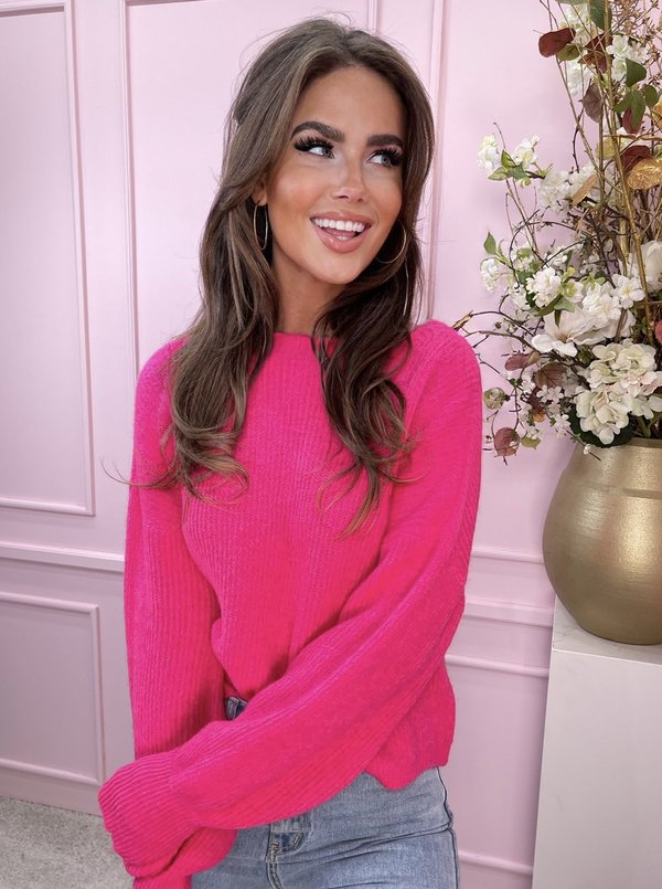 Neon sweater pink