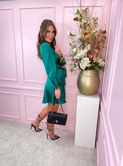 Silky dress emerald