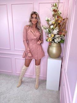 Vegan leather dress pink