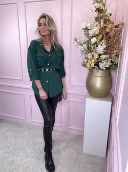 Straight blouse green