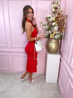 Megan dress red