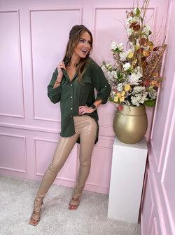 Straight blouse khaki