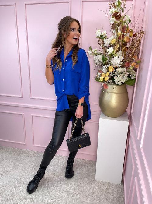 Straight blouse cobalt