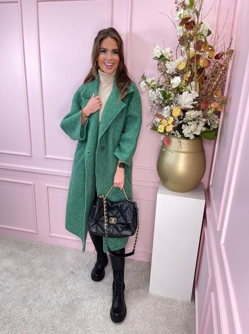 Celine coat green