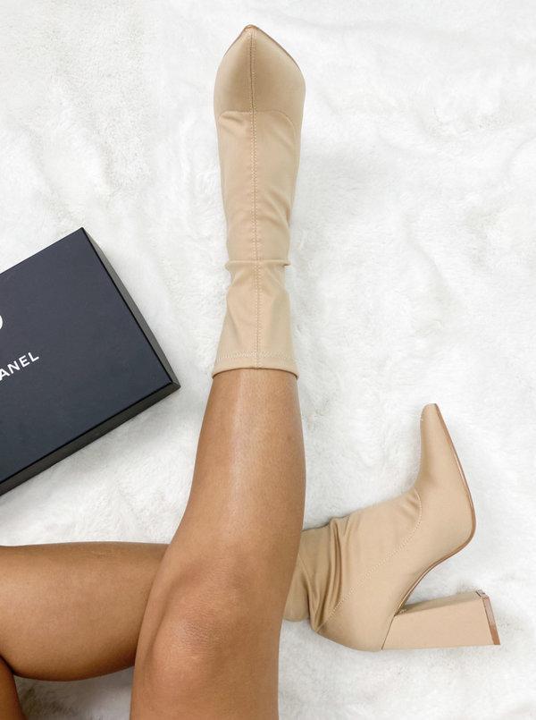 Sock boot Felice beige