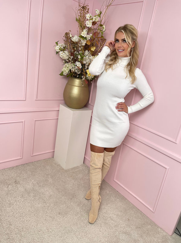 Kaylee col dress white