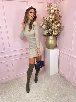 Kaylee col dress beige