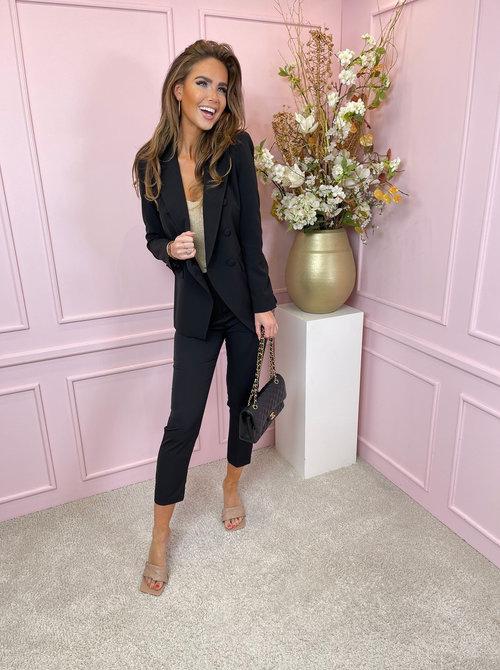 Suit black buttons