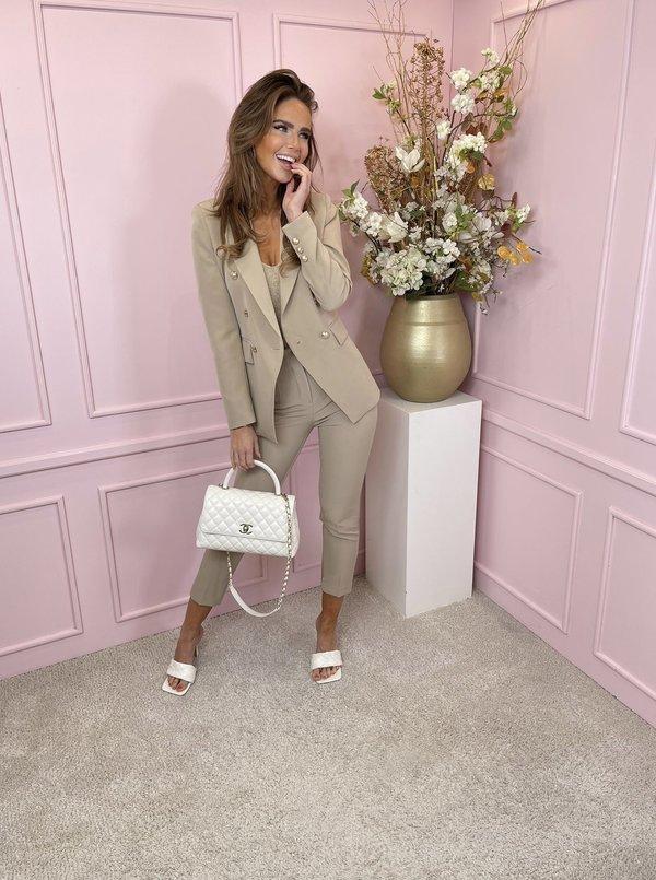 suit 2 piece beige
