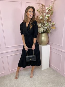 Kelly belted dress black