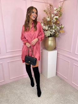 Satin rosé dress