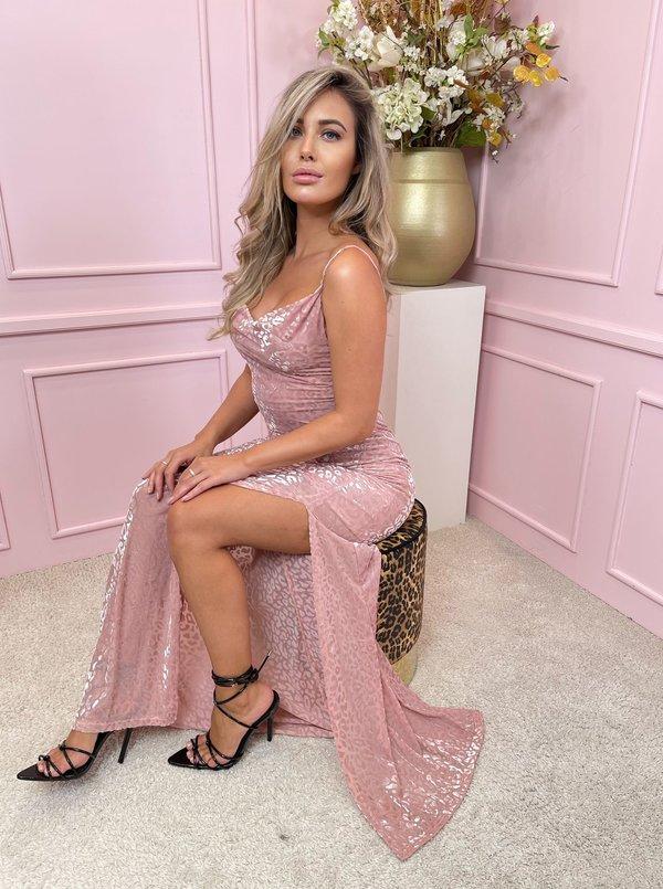 Raisa maxi dress pink