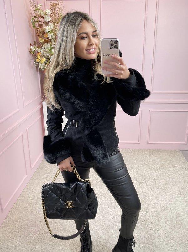 Lily coat black