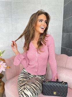 Lurex vest soft pink