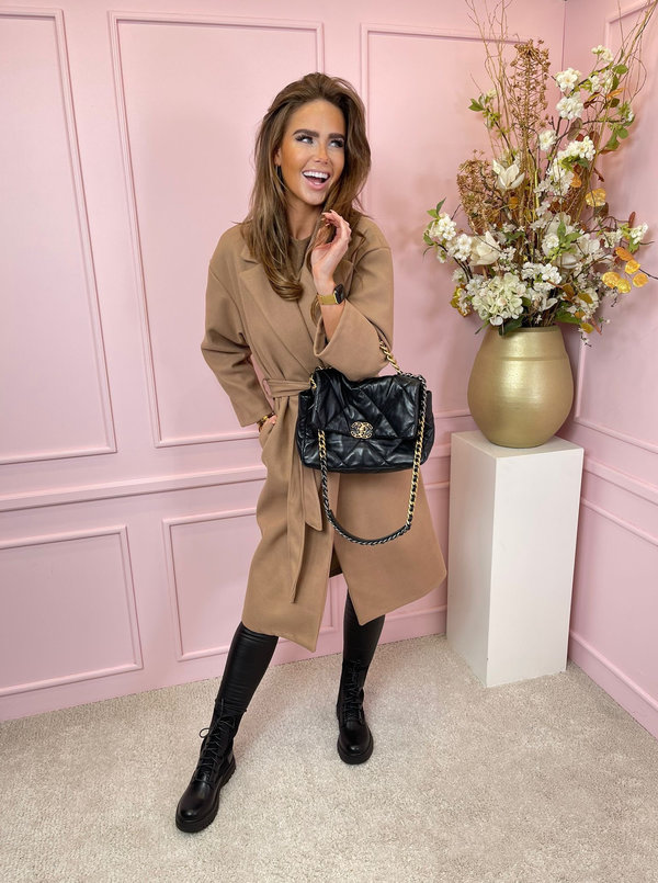 Belted classy coat jazzy