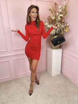 Turtle dress red