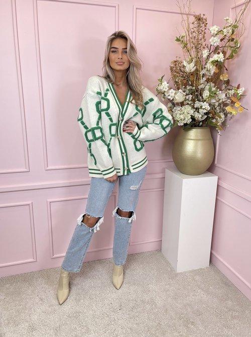 White & green vest
