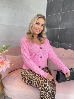Cable jolie vest pink