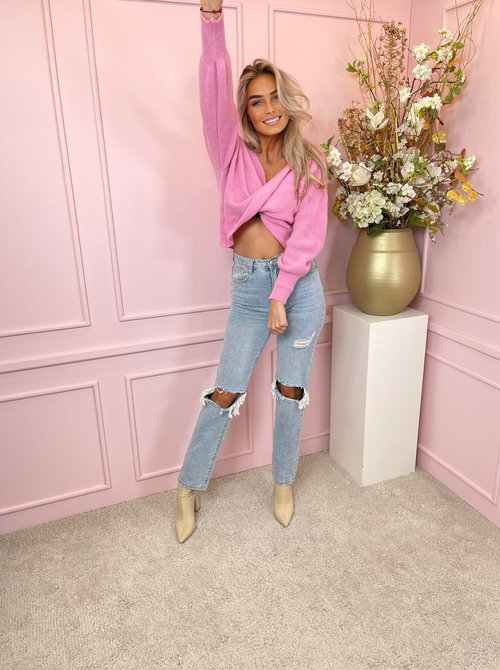 Knot sweater pink