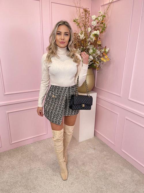tweed skirt Brown & black