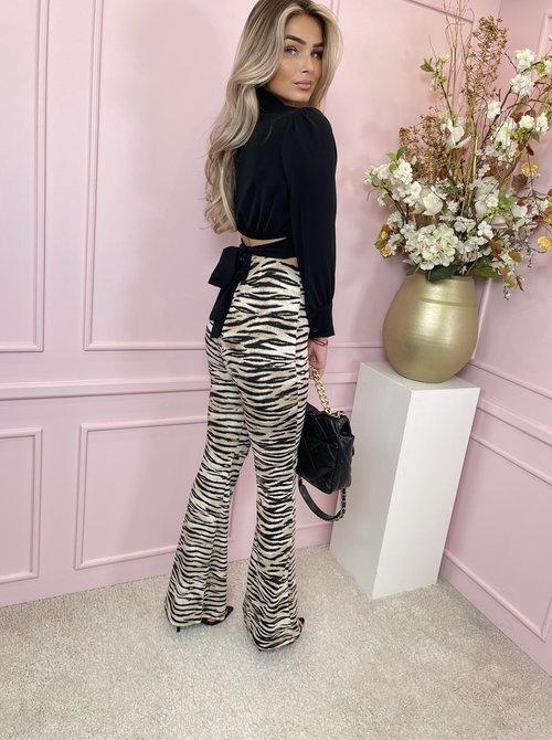 Satin blouse short black