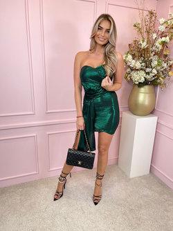 Emerald strapless diva dress