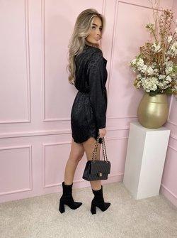 Leopard black knot dress