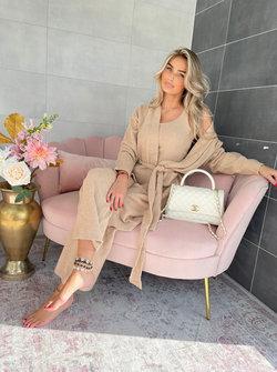 Fluffy lounge set beige