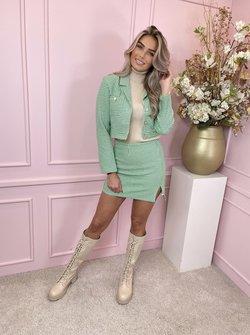 Tweed set green