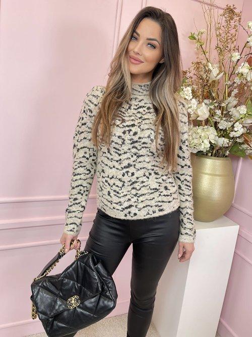 Leopard & Black sweater
